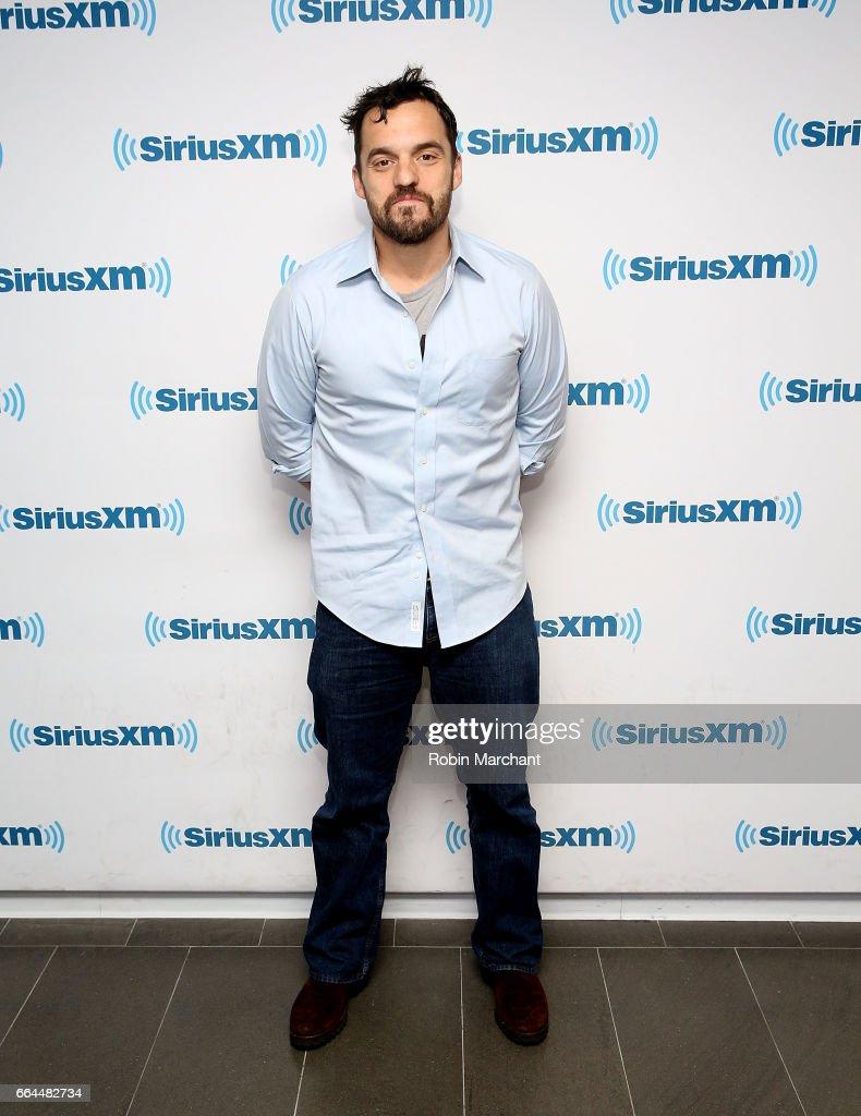 Jake Johnson visits at SiriusXM Studios on April 4, 2017 in New York City.