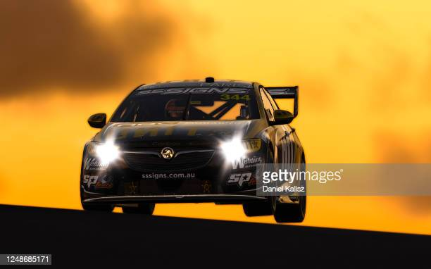 Jake Kostecki drive sthe UNIT Holden Commodore ZB during practice for round 10 of the Supercars All Stars Eseries at Oran Park Raceway on June 10,...