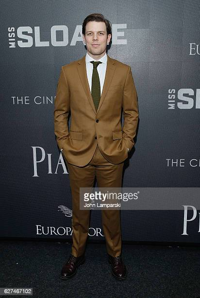 """Jake Lacy attends Cinema Society """"Miss Sloane"""" screening at SAG-AFTRA Foundation Robin Williams Center on December 3, 2016 in New York City."""