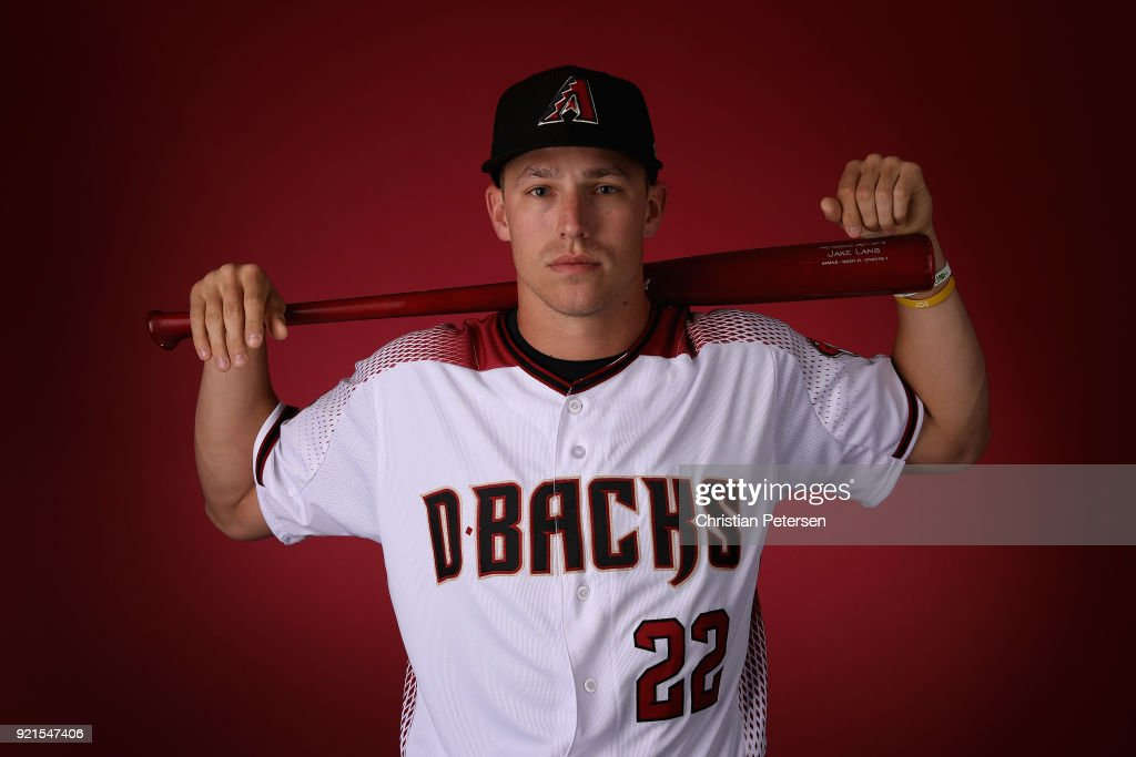 Jake Lamb #22 of the Arizona Diamondbacks poses for a portrait during photo day at Salt River Fields at Talking Stick on February 20, 2018 in Scottsdale, Arizona.