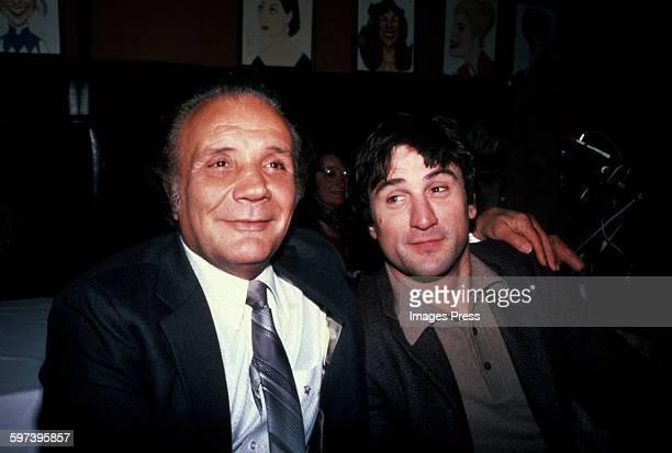 Jake LaMotta and Robert De Niro at Sardi's circa 1981 in New York City