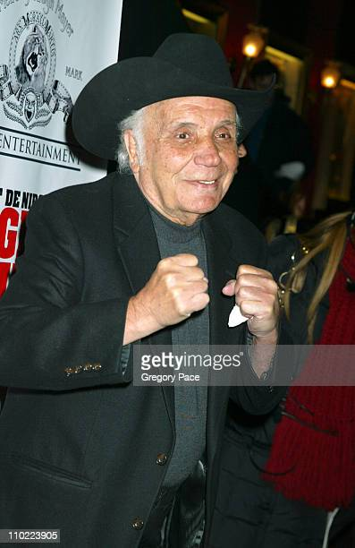 Jake LaMotta during 'Raging Bull' 25th Anniversary and Collector's Edition DVD Release Celebration Inside Arrivals at Ziegfeld Theater in New York...