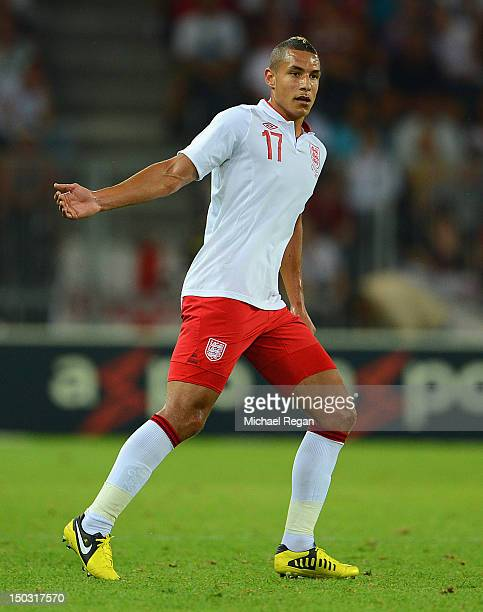 Jake Livermore of England in action during the international friendly match between England and Italy at Stade de Suisse Wankdorf on August 15 2012...