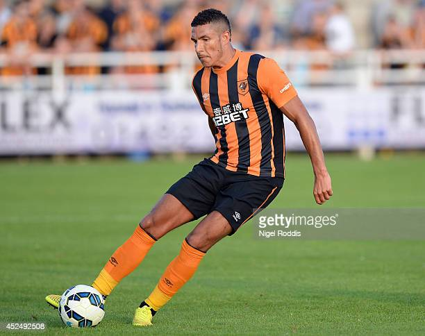 Jake Livermore of Hull City during a preseason friendly match between North Ferriby United and Hull City at the eon visual media stadium on July 21...
