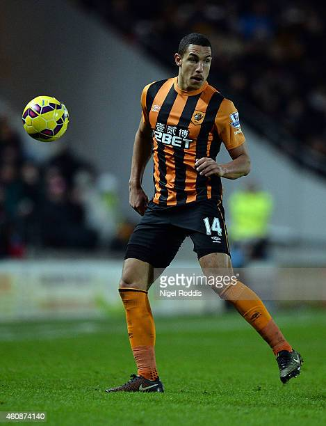 Jake Livermore of Hull City during the Barclays Premier League match between Hull City and Leicester City at the KC Stadium on December 28 2014 in...