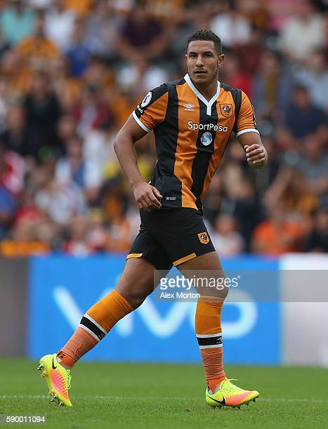 Jake Livermore of Hull during the Premier League match between Hull City and Leicester City at KC Stadium on August 13 2016 in Hull England