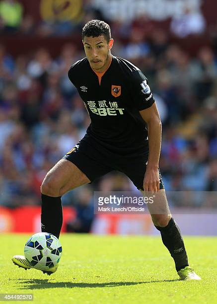 Jake Livermore of Hull in action during the Barclays Premier League match between Aston Villa and Hull City at Villa Park on August 31 2014 in...