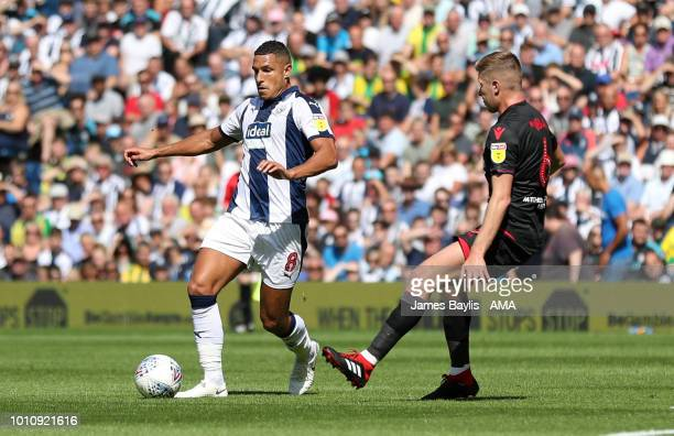 Jake Livermore of West Bromwich Albion and Josh Vela of Bolton Wanderers during the Sky Bet Championship match between West Bromwich Albion and...