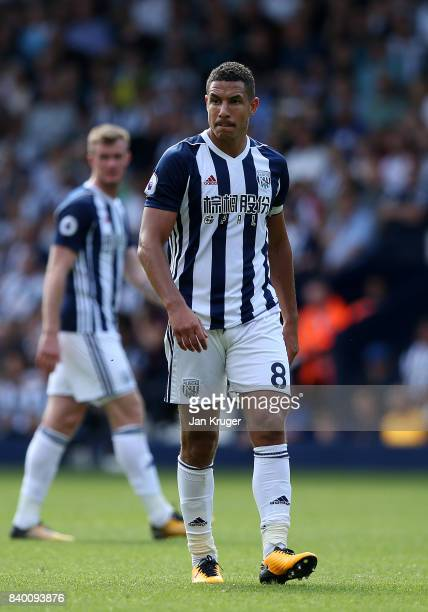 Jake Livermore of West Bromwich Albion during the Premier League match between West Bromwich Albion and Stoke City at The Hawthorns on August 27 2017...