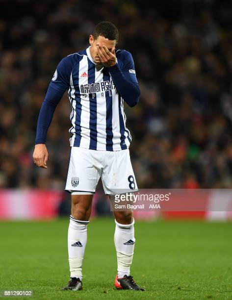 Jake Livermore of West Bromwich Albion during the Premier League match between West Bromwich Albion and Newcastle United at The Hawthorns on November...