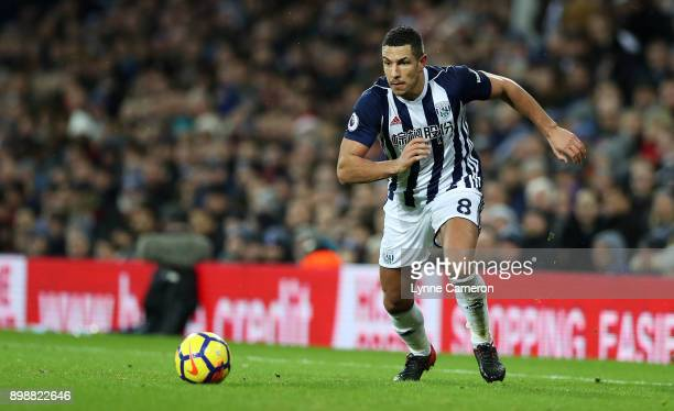 Jake Livermore of West Bromwich Albion during the Premier League match between West Bromwich Albion and Everton at The Hawthorns on December 26 2017...