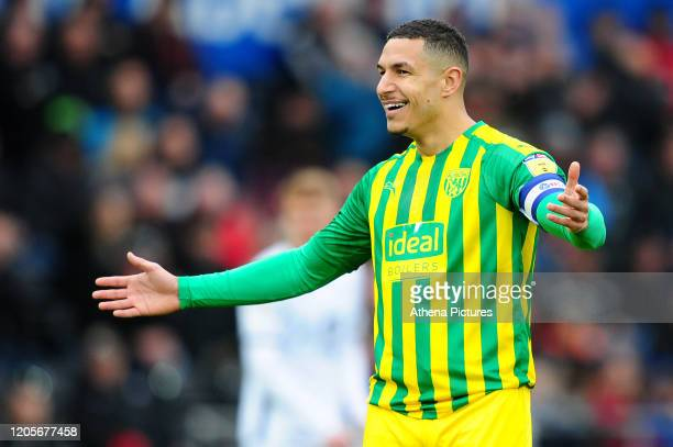 Jake Livermore of West Bromwich Albion during the Sky Bet Championship match between Swansea City and West Bromwich Albion at the Liberty Stadium on...