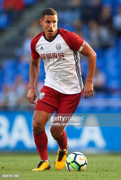 Jake Livermore of West Bromwich Albion in action during the Pre Season Friendly match between Deportivo de La Corua and West Bromwich Albion at...