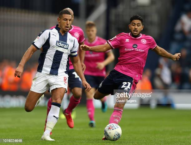 Jake Livermore of West Bromwich Albion moves away from Massimo Luongo during the Sky Bet Championship match between West Bromwich Albion and Queens...
