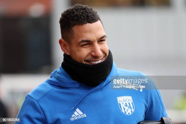 Jake Livermore of West Bromwich Albion prior to the The Emirates FA Cup Third Round match between Exeter City v West Bromwich Albion at St James Park...