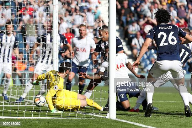 Jake Livermore of West Bromwich Albion scores a goal to make it 10 during the Premier League match between West Bromwich Albion and Tottenham Hotspur...