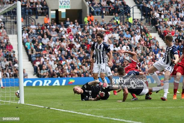 Jake Livermore of West Bromwich Albion scores a goal to make it 12 during the Premier League match between West Bromwich Albion and Liverpool at The...