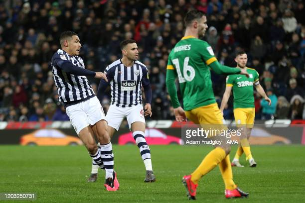 Jake Livermore of West Bromwich Albion scores a goal to make it 20 during the Sky Bet Championship match between West Bromwich Albion and Preston...