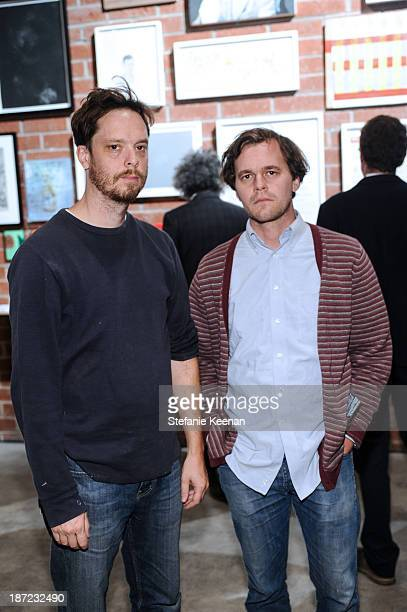 Jake Longstreth and Aaron Wrinkle attend the LAXART Benefit Auction And Party Presented By Samsung Galaxy on November 6 2013 in Los Angeles California