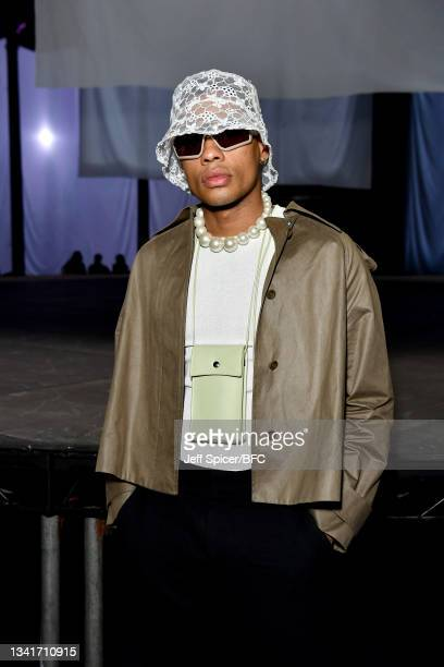 Jake Marcelo attends the COS show at The Roundhouse during London Fashion Week September 2021 on September 21, 2021 in London, England.
