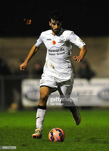 Jake Mawford of WestonSuperMare in action during the FA Cup First Round match between WestonSuperMare and Doncaster Rovers on November 18 2014 in...