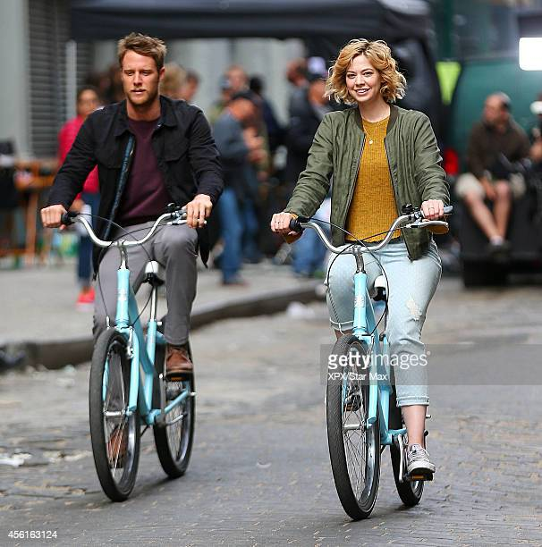 Jake McDorman and Analeigh Tipton seen on September 26 2014 in New York City