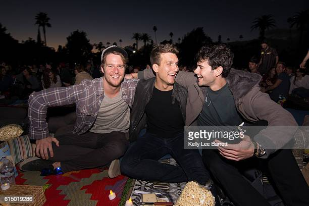 Jake McDorman Scott Michael Foster and Jayson Blair attend Cinespia's screening of 'Death Becomes Her' held at Hollywood Forever on October 15 2016...