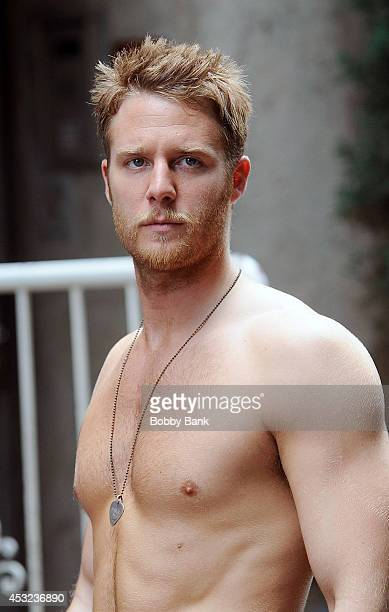Jake McDorman seen on the set of television series 'Manhattan Love Story' on August 5 2014 in New York City