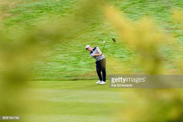 Jake McLeod of Australia plays a shot during day two of the ISPS Handa New Zealand Golf Open at The Hills Golf Club on March 2 2018 in Queenstown New...