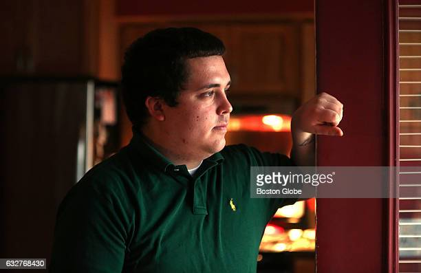 Jake Meehan, a former TD Garden security guard who now works security at an area hospital, poses for a portrait in Belmont, MA on Jan. 22, 2017....
