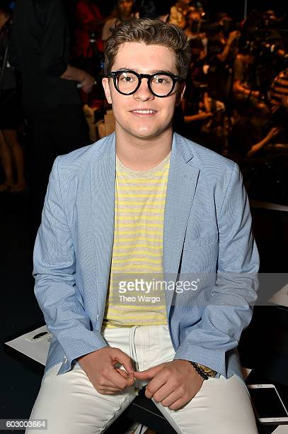 Jake Millar attends the Carmen Marc Valvo Spring/Summer 2017 Fashion Show during New York Fashion Week at Pier 59 Studios on September 11 2016 in New...