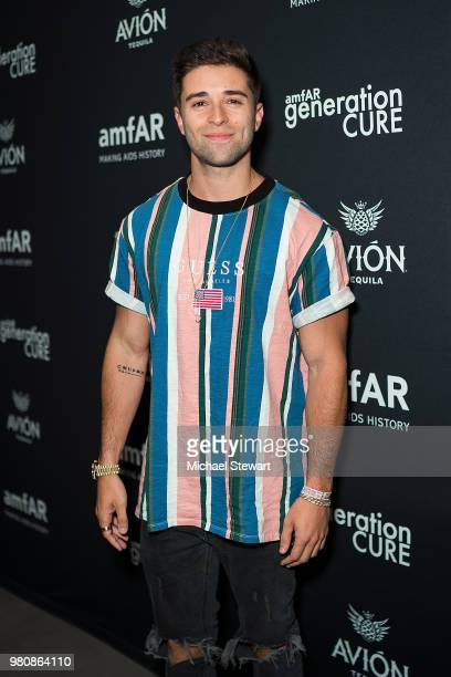 Jake Miller attends amfAR GenCure Solstice 2018 at SECOND on June 21 2018 in New York City