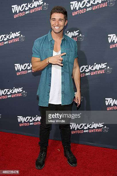 Jake Miller attends the premiere of Awesomeness TV's Janoskians Untold and Untrue at Regency Bruin Theatre on August 25 2015 in Los Angeles California