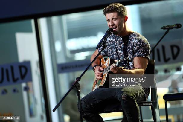Jake Miller performs on stage at Build Series Presents Jake Miller Performing Songs From His New EP 'Overnight' at Build Studio on April 14 2017 in...