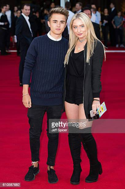 Jake Mitchell and Saffron Barker attend the Laid In America World Premiere at Cineworld 02 Arena on September 26 2016 in London England