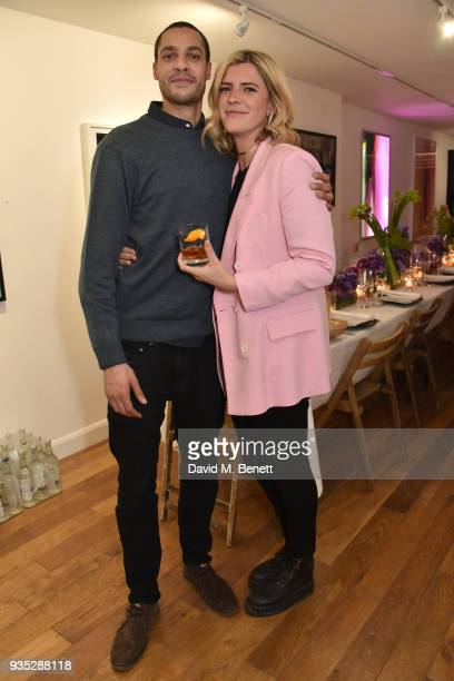 Jake Morant and Annabel Simpson attend an exclusive dinner celebrating Derrick Santini's exhibition Float Fly curated by Mark Broadbent of 'Bread...
