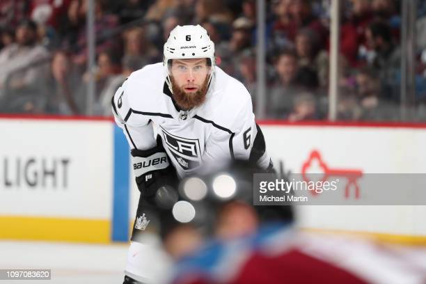 Jake Muzzin of the Los Angeles Kings skates against the Colorado Avalanche at the Pepsi Center on January 19 2019 in Denver Colorado The Avalanche...