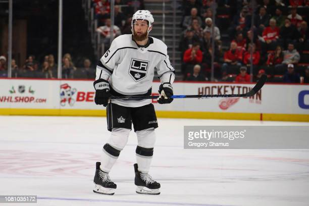Jake Muzzin of the Los Angeles Kings skates against the Detroit Red Wings at Little Caesars Arena on December 10 2018 in Detroit Michigan Detroit won...