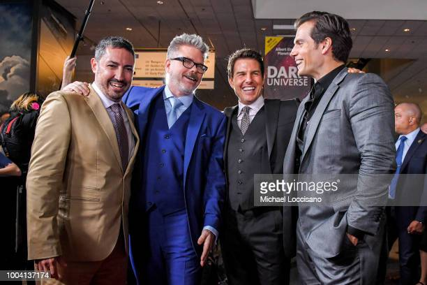Jake Myers Christopher McQuarrie Tom Cruise and Henry Cavill attend the 'Mission Impossible Fallout' US Premiere at Lockheed Martin IMAX Theater at...