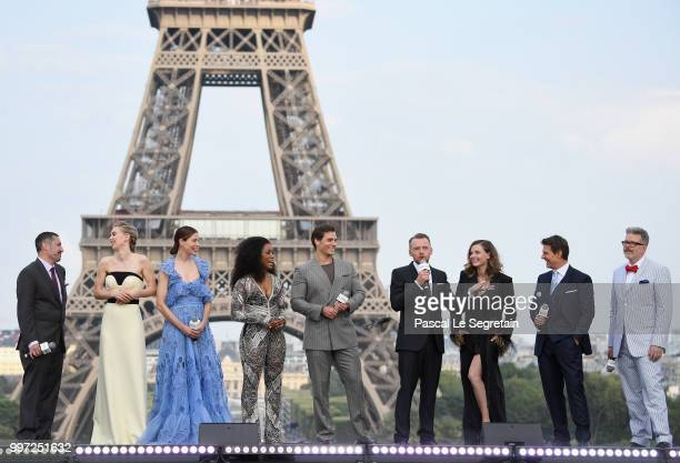 Jake Myers Vanessa Kirby Michelle Monaghan Angela Bassett Henry Cavill Simon Pegg Rebecca Ferguson Tom Cruise and Christopher McQuarrie attend the...