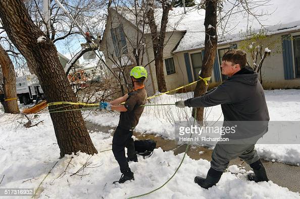 Clean Up After Mive Storm Dumped A Record 25 Inches Of Snow In Boulder Colorado Pictures Getty Images