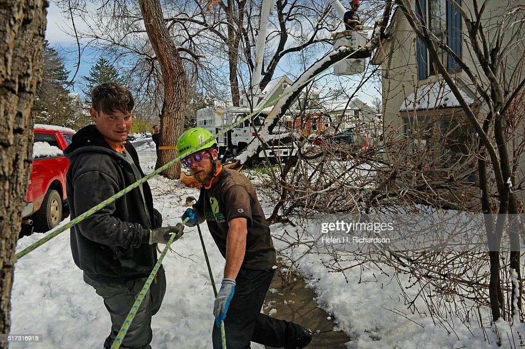 Clean Up After Mive Storm Dumped A Record 25 Inches Of Snow In Boulder Colorado