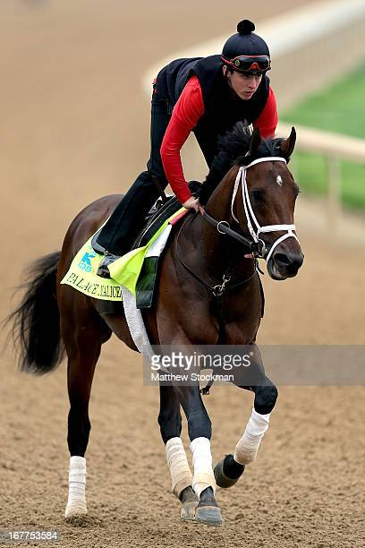 Jake Nelson rides Palace Malice during the morning excercise session in preparation for the 139th Kentucky Derby at Churchill Downs on April 29 2013...