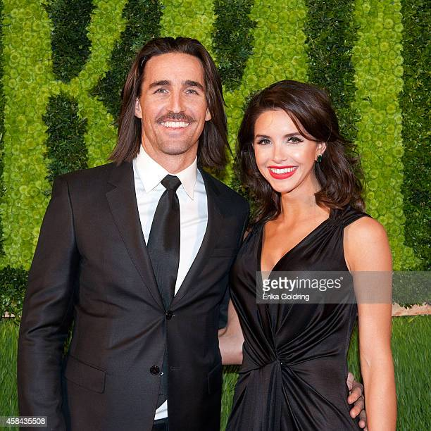 Jake Owen and Lacey Buchanan attend the 62nd annual BMI Country awards on November 4 2014 in Nashville Tennessee