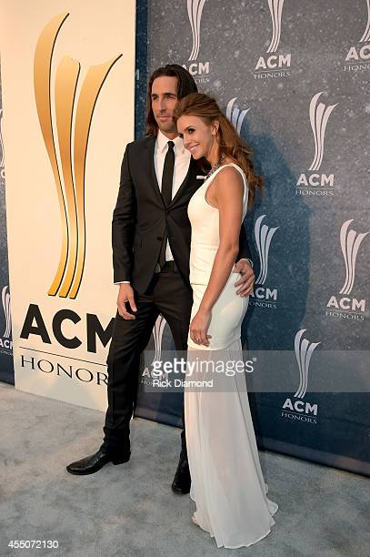 Jake Owen and Lacey Buchanan attend the 8th Annual ACM Honors at Ryman Auditorium on September 9 2014 in Nashville Tennessee