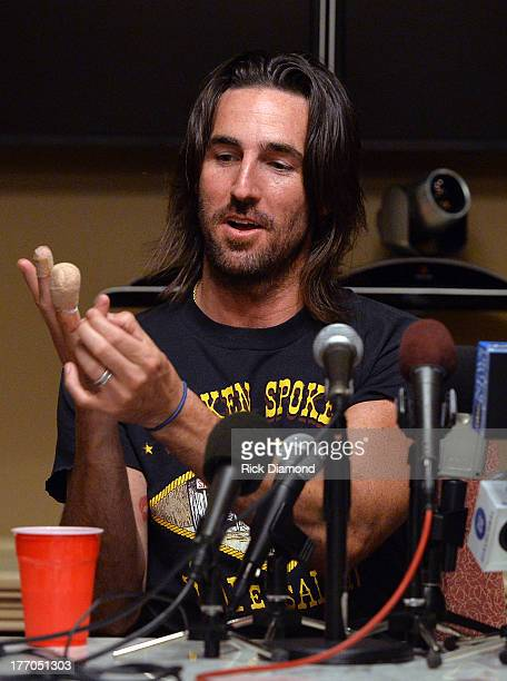 Jake Owen explains how much of his finger was amputated earlier that day before he performed in front of more than 10000 fans at Jake Owen summer...