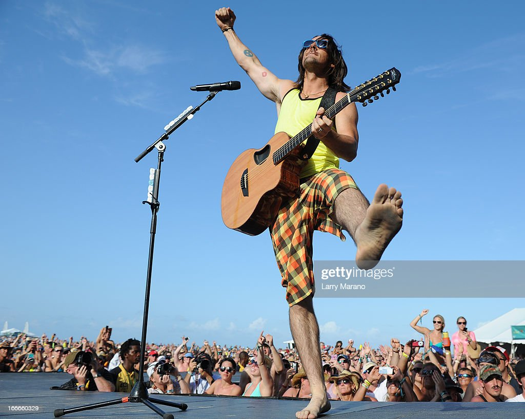 Jake Owen performs during the Rock The Oceans Tortuga Festival on April 14, 2013 in Fort Lauderdale, Florida.