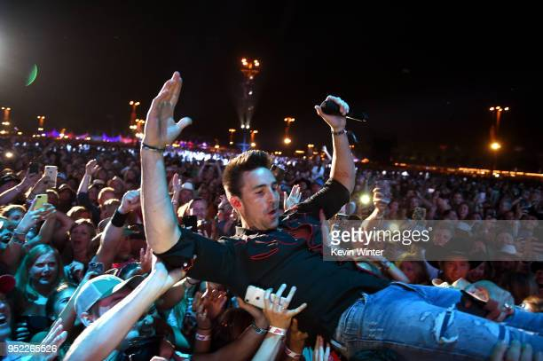 Jake Owen performs onstage during 2018 Stagecoach California's Country Music Festival at the Empire Polo Field on April 27 2018 in Indio California