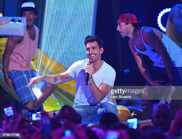 Jake Owen performs onstage during the 2015 CMT Music awards at the Bridgestone Arena on June 10 2015 in Nashville Tennessee