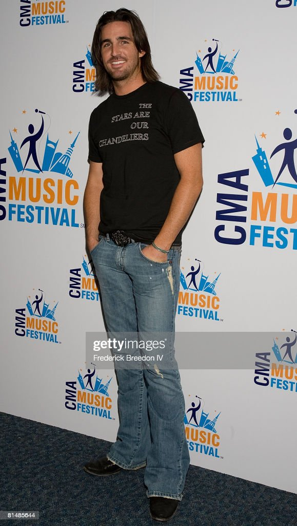 Jake Owen visits the press room at the VAULT Concert Stages during the 2008 CMA Music Festival on June 6, 2008 at LP Field in Nashville, Tennessee.